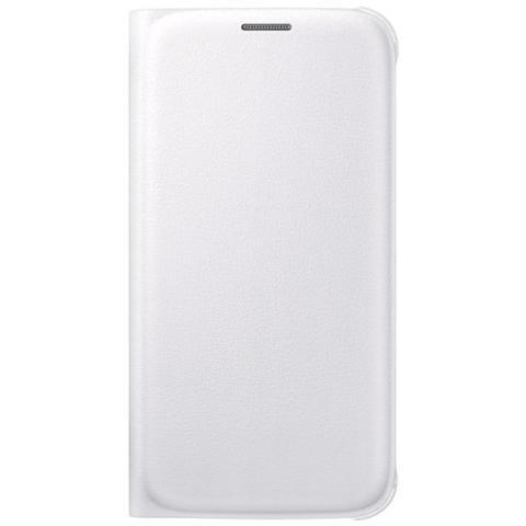 SAMSUNG Custodia Flip Wallet per Galaxy S6 - Bianco