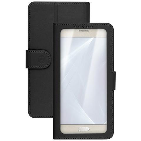 """CELLY UnicaView Flip Cover con sistema Slide Touch per smartphone da 5"""" a 5.5"""" - Nero"""