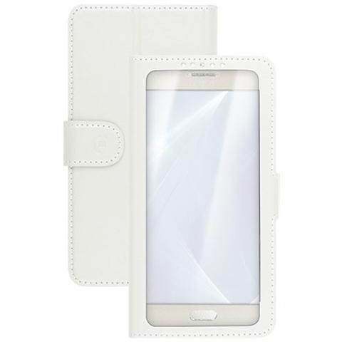 """CELLY UnicaView Flip Cover con sistema Slide Touch per smartphone da 4.5"""" a 5"""" - Bianco"""