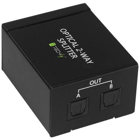 TECHLY IDATA TOS-SP2 - Splitter Audio Digitale Toslink 2 Porte