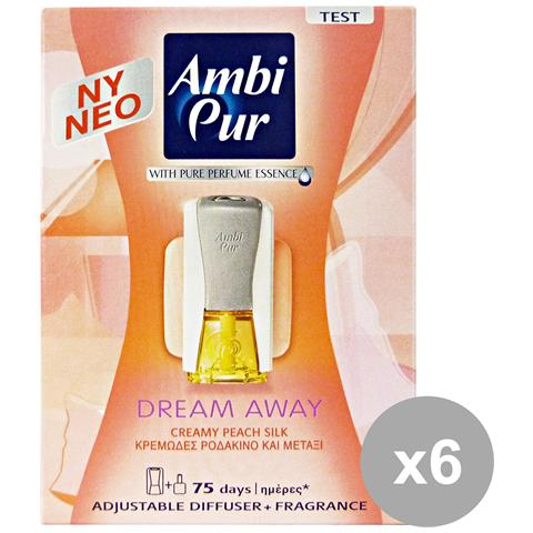 Ambi-Pur Set 6 Casa Base+ricarica Dream Away Deodorante Candele E Profumato