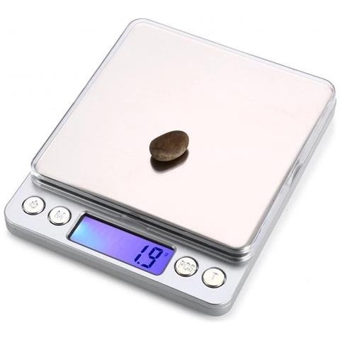 Bilancia Elettronica Portatile Cucina 8008 2kgx0.1g Precisione 4x4 Alimenti Cibo