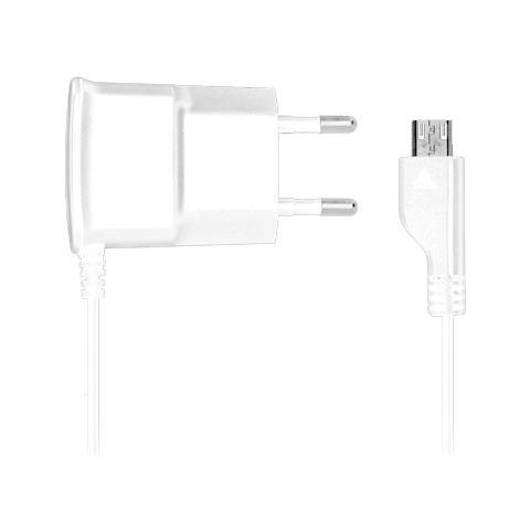 FONEX Carica da Rete Slim 1A per Micro USB Colore Bianco