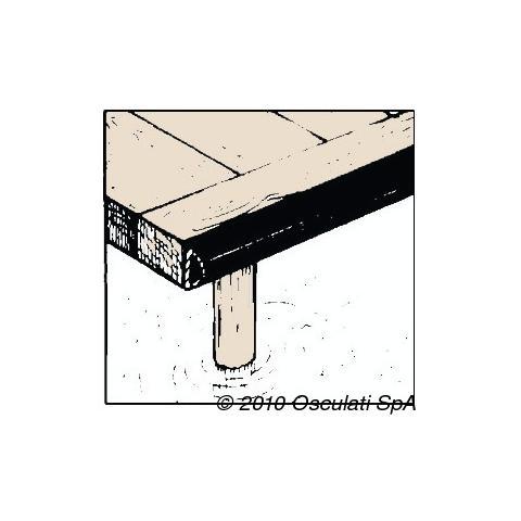 Profilo PVC nero 70 x 70 mm (barra 2 m)