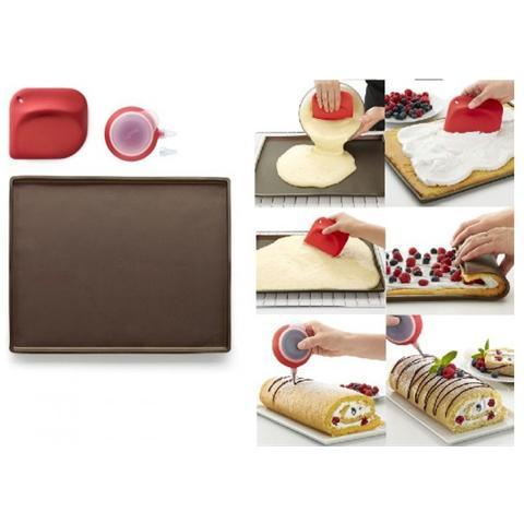 Lekué Kit Roll Cake Tappeto In Silicone Con Spatola E Decopen Lekuè Per Torte E Dolci