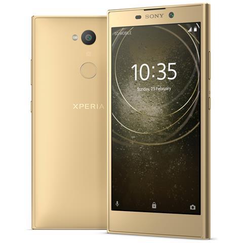"""SONY Xperia L2 Oro 32 GB 4G / LTE Display 5.5"""" HD Slot Micro SD Fotocamera 13 Mpx Android Europa"""