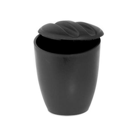 Portaghiaccio Tondo C / Coperchio In Plastica Nero Di Mcm