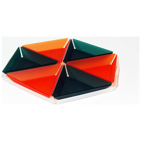 Set Composto Da 7 Vassoi Per Apertivi, Tapas E Snack Design Moderno In Plexiglass Daisy