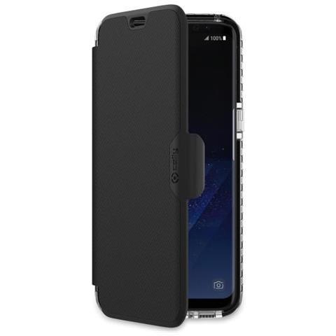 CELLY Flip Cover Custodia per Galaxy S8 BK Nero