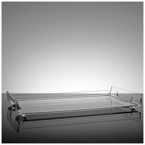 Vassoio Rettangolare Da Portata Design Moderno In Plexiglass Trasparente Gelso