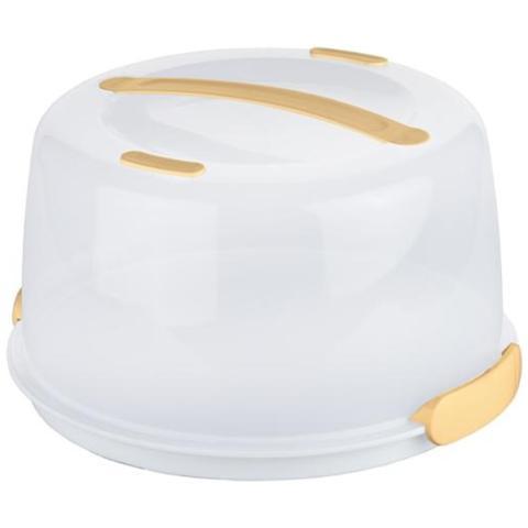 Delicia Porta Torte con Tavoletta Refrigerante Bianco Plastica 630840