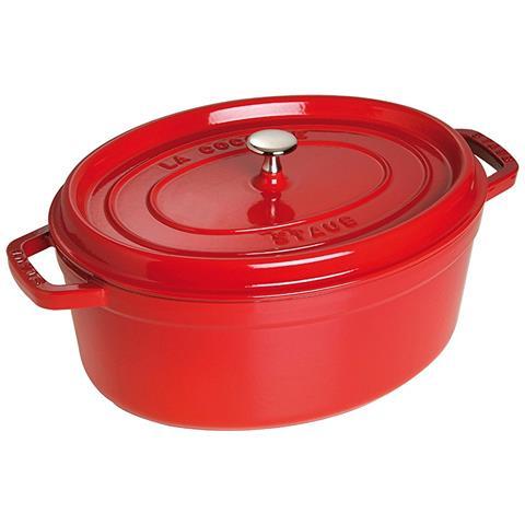 Cocotte in Ghisa con Coperchio Diametro 31 cm Capacità 5.5 lt Colore Rosso Ciliegia - Linea La Cocotte
