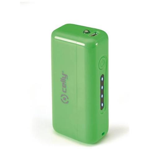 CELLY PowerBank da 2200 mAh MicroUSB 5V USB da 1A - Verde