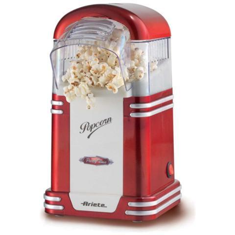 Pop Corn Popper Party Time Macchina per il Popcorn Potenza 1100 Watt Colore Rosso