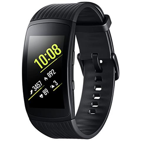 "SAMSUNG Sportwatch Gear Fit2 Pro Impermeabile 5ATM Display 1.5"" 4GB Bluetooth WiFi e GPS Taglia L Nero - Europa"