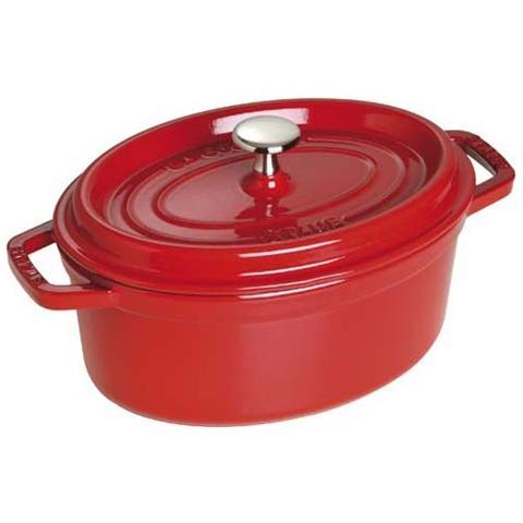 Cocotte in Ghisa con Coperchio Diametro 37 cm Capacità 8 lt Colore Rosso Ciliegia - Linea La Cocotte