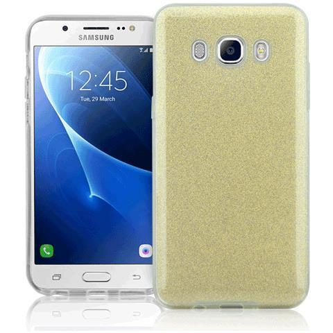 FONEX Cover in TPU Chic Soft per Galaxy J5 trasparente + 3 Glitter Card