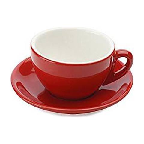 Emile henry Tazza cappuccio con piatto cult rosso porcellana bianca