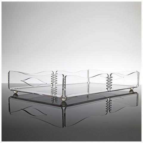 Vassoio Rettangolare Da Portata Design Moderno In Plexiglass Trasparente Ivy