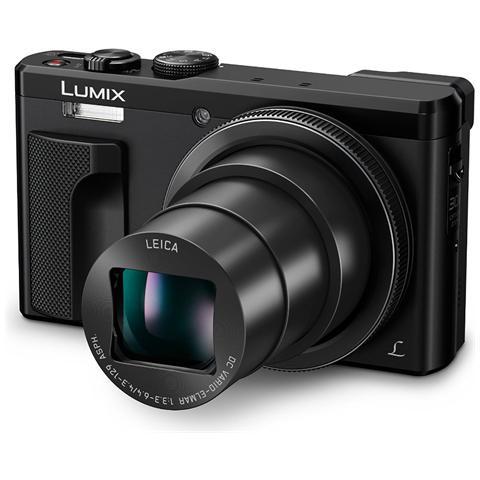 "PANASONIC LUMIX TZ80 Sensore MOS 18.1 Megapixel Display 3"" Filmati Ultra HD 4K Wi-Fi Nero"
