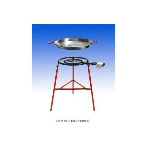 REBER Kit Paella Completo Diam. 60 (fornello+supporto+padella)