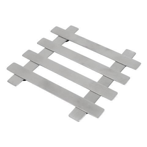 507306 - Sottopiatto Quadrato In Acciaio Inox