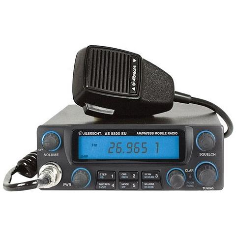 Cb Radio Ae 5890 12589 Am-fm-ssb 12v Asq Rf-mic Gain Roger Beep