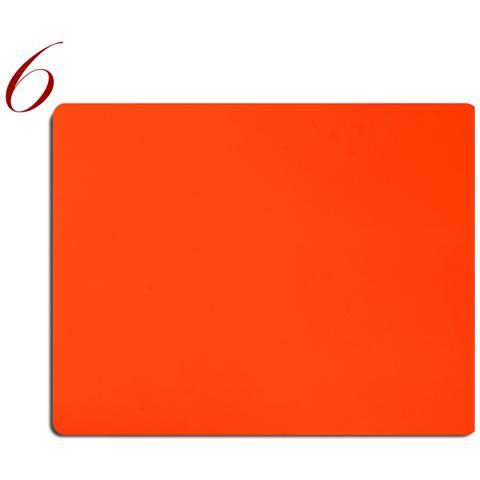 Tovagliette Americane Pelle Lavabile Pantone Fluo Arancio 6Pz