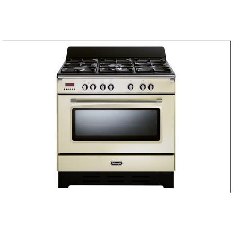 Image of Cucina Elettrica MEM 965 BA 5 Fuochi a Gas Forno Elettrico Dimensione 90 x 60 cm Colore Beige