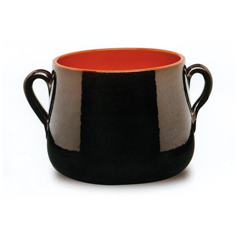 Pentola 2 Maniglie in Terracotta Diametro 18 cm
