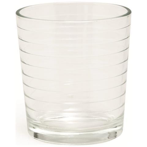 Cartonetta 6 bicchieri Roma trasparenti cl. 26.