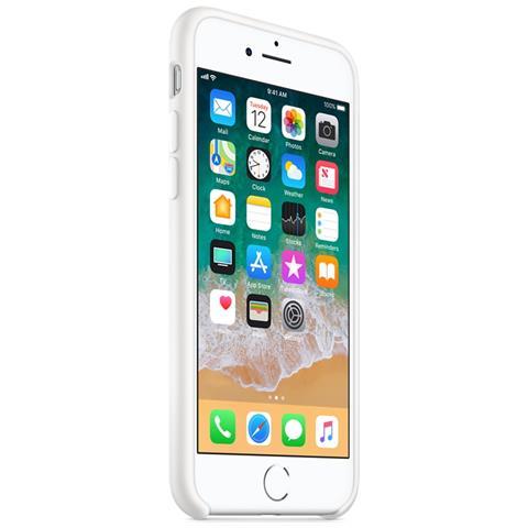 APPLE Custodia in Silicone per iPhone 8 e 7 Colore Bianco