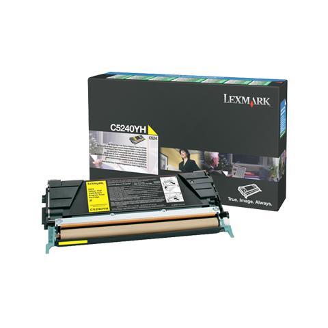 Image of 00C5240YH Toner Originale Giallo per Lexmark C524 Capacit