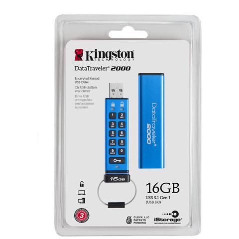 Chiavetta USB 16 GB DataTraveler 2000 Interfaccia USB 3.0 Colore Blu