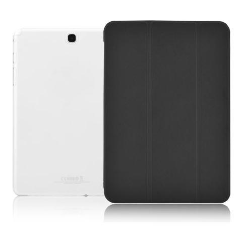 """FONEX Crystal Slim Custodia a Libro con Back Trasparente per Galaxy Tab A 9,7"""" Colore Nero"""