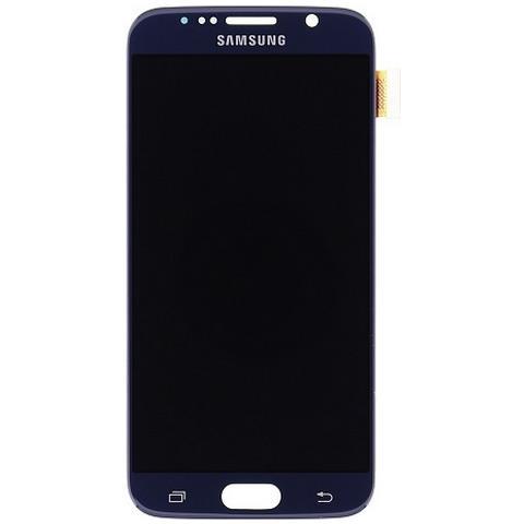Image of Lcd Touch Screen E Vetro Completo Nero Per Galaxy S6 G920