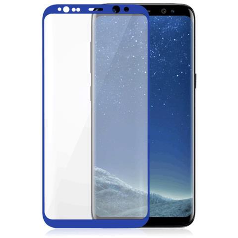 FONEX Vetro Temperato 3D Curvo Protezione Schermo da Bordo a Bordo 0,2 mm per Galaxy S8 + (1Pz) Colore Blu