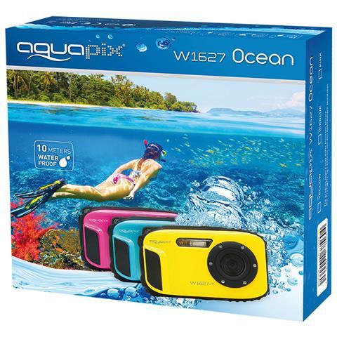 Image of Aqua Pix Ocean Subacquea della Fotocamera Digitale con Batteria Agli Ioni di Litio, Giallo