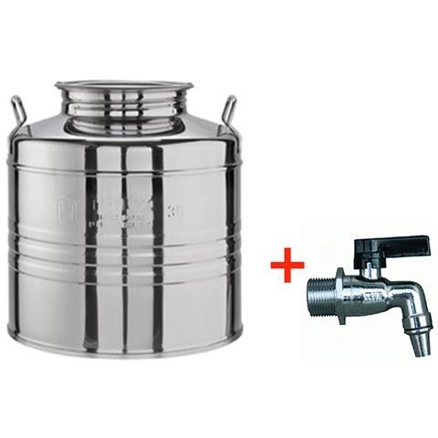 Contenitore Olio Acciaio Inox 18/10 Da 30 Litri