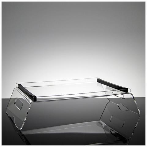 Vassoio Per Colazione Da Letto Design Moderno In Plexiglass Trasparente E Nero Saffron