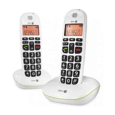 Image of Telefono Cordless Duo Telefono Doro Easy 100w Nero Grande Display