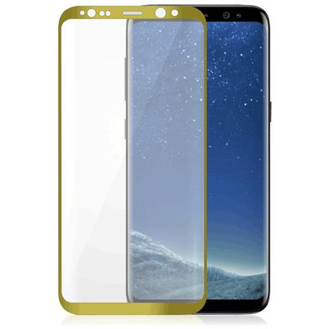 FONEX Vetro Temperato 3D Curvo Protezione Schermo da Bordo a Bordo 0,2 mm per Galaxy S8 + (1Pz) Colore Oro