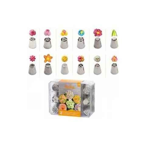 Gefu Cornetti x fiori diretti confezione 12pz. nr 2 acciaio inox