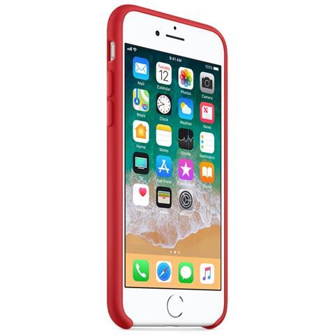 APPLE Custodia in Silicone per iPhone 8 e 7 Colore Rosso