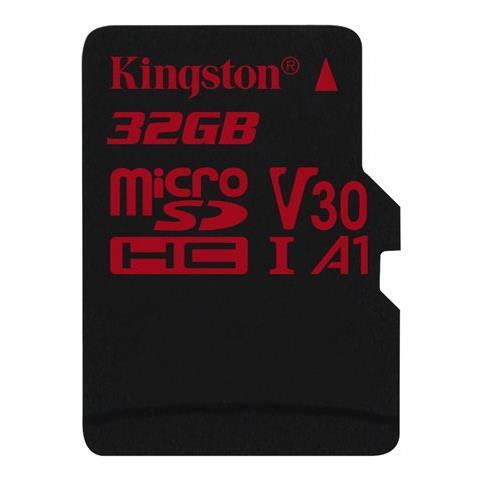 KINGSTON MicroSD da 32GB UHS-I 100MB / s in lettura e 70MB / s in scrittura