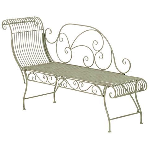 Panchina Chaiselounge Stile Romantico Cp452 156cm ~ Colore Verde Antico