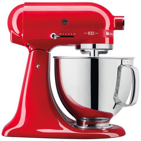 Robot da Cucina Queen of Hearts 5KSM180HESD Capacità 4.8 L Potenza 300 W Colore Rosso Passione