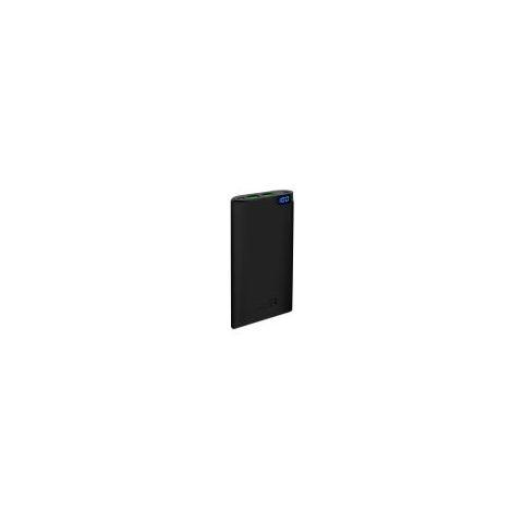 PURO Batteria Supplementare Puro Esterna Universale Fast Charger 10000mah, 2 Usb, output 4.2a Li-ion Con Display, nero