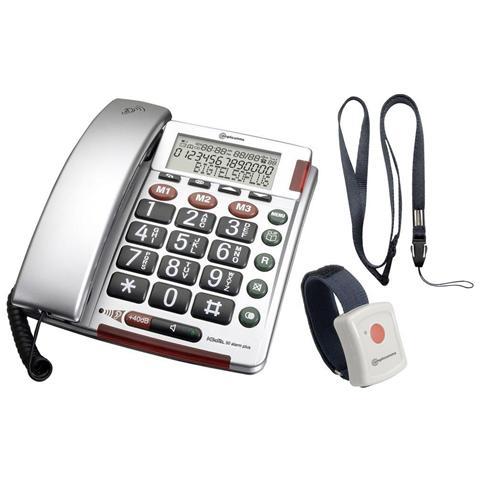 BigTel 50 Alarm Plus a filo per anziani - Argento