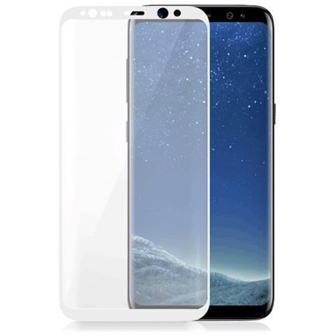 FONEX Vetro Temperato 3D Curvo Protezione Schermo da Bordo a Bordo 0,2 mm per Galaxy S8 + (1Pz) Colore Bianco
